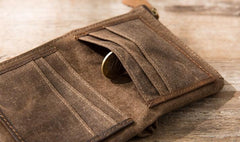 Cool Canvas Mens Small Wallet Bifold Vintage billfold Wallets for Men