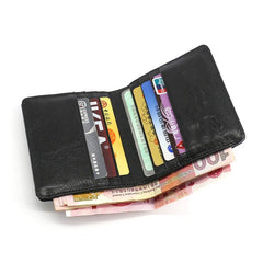 Leather Mens Front Pocket Wallet Small Wallet Slim Wallet Card Wallet for Men