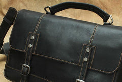 Black Cool Leather Messenger Bag Handbag Shoulder Bag For Men
