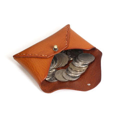 Handmade Leather Mens Change Wallet Card Wallet Front Pocket Wallet Coin Wallet for Men