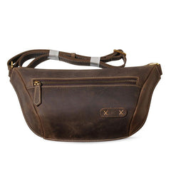Leather Men Fanny Pack Small Waist Bag Hip Pack Belt Bag Bumbag for Men