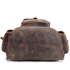 Cool Leather Mens School Backpack Vintage Travel Backpack Satchel Backpack for Men