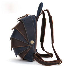 Unique Leather Cool Bug Mens Backpacks Round School Backpack Travel Backpack for Men