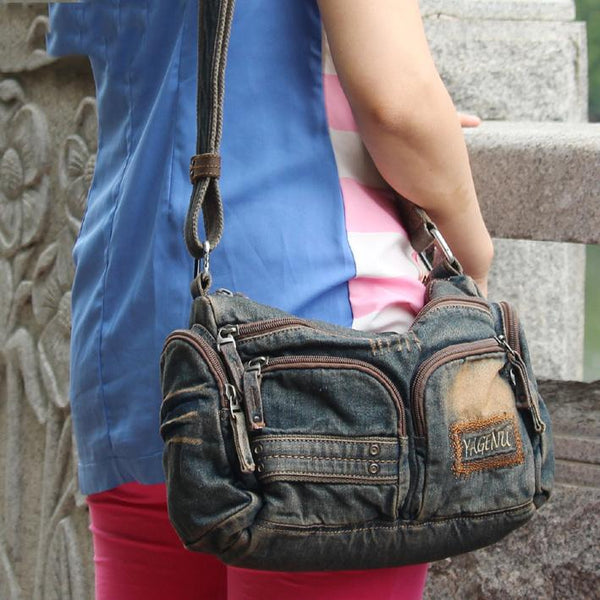 Blue Jean Mens Womens Side Bag Courier Bag Blue Jean Messenger Bag For Women