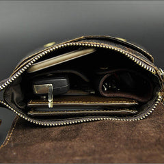 Cool Mens Leather Small Side Bag Belt Pouch Waist Pouch Holster Belt Case for Men