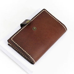 Leather Mens Small Card Wallets Front Pocket Wallet Cool Change Wallet for Men