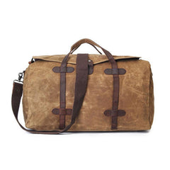 Mens Waxed Canvas Weekender Bags Canvas Travel Bag Canvas Overnight Bag for Men