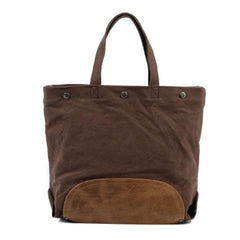 Mens Waxed Canvas Tote Purse Handbags Canvas Shoulder Bag for Men