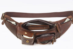 Leather Belt Bag Mens Fanny Back Waist Bag Fanny Bags For Men