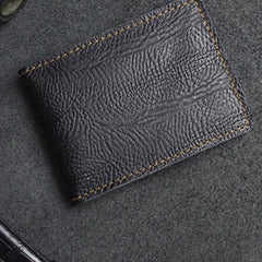 Handmade Leather Mens License Wallets Cool Short Wallet Card Holder Small Card Slim Wallets for Men