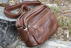 Genuine Leather Mens Small Messenger Bag Cool Crossbody Bags for men