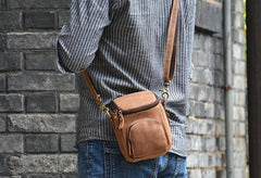 Vintage Leather Belt Pouch for Men Waist Bags BELT BAGs Shoulder Bags For Men
