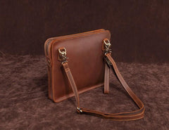 Classy Retro Leather Mens Tablet Messenger Bag Small Side Bag Messenger Bag For Men
