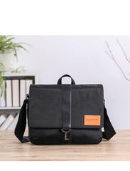 Cool Black Nylon MENS Waterproof Laptop Bag Black Nylon Messenger Bag Courier Bag For Men