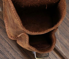 Cool Brown Leather Cigarette Case Belt Pouches BELT Cigarette Holder For Men