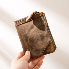 Cool Canvas Mens Small Wallets Bifold Vintage billfold Wallet for Men