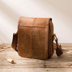 Cool Leather Small Mens Messenger Bags Shoulder Bags for Men