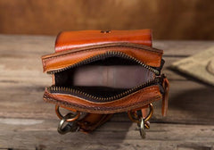 Cool Mens Leather Belt Pouch Belt Bag Waist Bag Small Shoulder Bag for Men