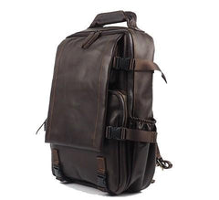 Cool Mens Leather 15inch Laptop Backpack Satchel Backpack Leather School Backpack for Men