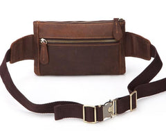 Cool and Retro Brown LEATHER MENS FANNY PACK FOR MEN BUMBAG Vintage WAIST BAGS