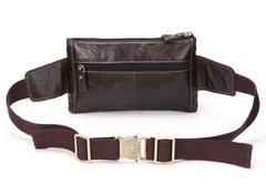 Cool Dark Brown LEATHER MENS FANNY PACK FOR MEN Belt Pouch BUMBAG WAIST BAG