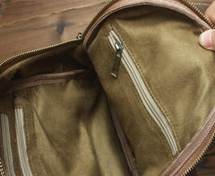 Cool and Retro Khaki Brown Mens Backpacks Vintage School Backpack Travel Backpack Bags for Men