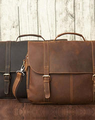 LEATHER MENS BRIEFCASE MESSENGER BAG WORK BAG Handbag FOR MEN
