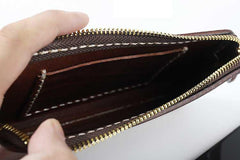Fashion Black Leather Mens Long Wallet Brown Chain Wallet Biker Chain Wallet Clutch Men