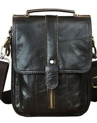 Cool Mens Leather Small Messenger Bag Vintage CrossBody Bag Handbag Shoulder Bag For Men