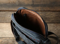 Genuine Vintage Leather Mens Cool Small Shoulder Bag Messenger Bag Chest Bag Bike Bag Cycling Bag for men