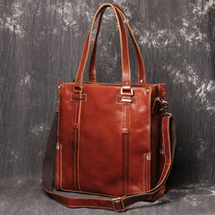 Handmade Brown LEATHER Mens/Womens Tote Messenger Tote Bag Tote HandBag Shoulder Bag For Men