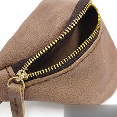 Handmade Leather Womens Wrist Pouch Zipper Mens Womens Wrist Wallet Wrist Purse