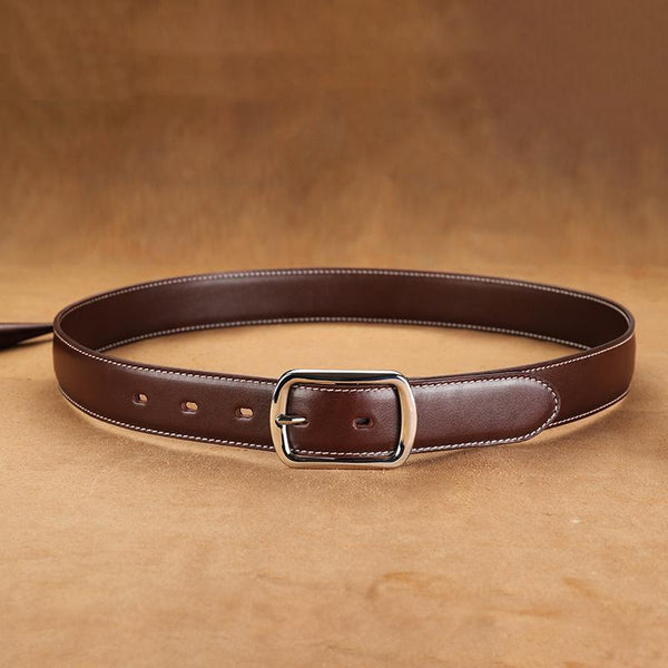 Handmade Mens Coffee Leather Belts PERSONALIZED Fashion Coffee Leather Belt for Men