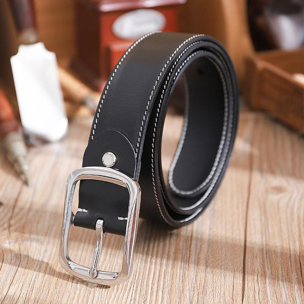 Handmade Mens Black Leather Belts PERSONALIZED Fashion Black Leather Belt for Men