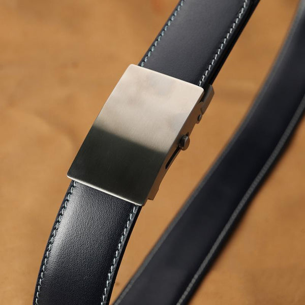 Handmade Mens Blue Leather Belts PERSONALIZED Fashion Leather Belt for Men