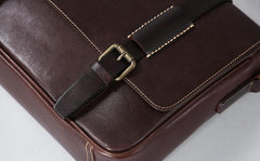Handmade Genuine Leather Mens Cool Shoulder Bag Messenger Bag Cycling Bag for men