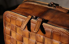 Handmade Leather Vintage Brown Mens Cool Leather Backpack Travel Bag for men