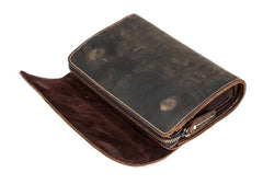 Khaki Cool Mens long Wallet Wristlet Wallets Clutch Wallet Dark Brown Long allets for MenW