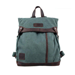 Lake Green Canvas Mens Large 14'' Laptop Rucksack Backpack College Backpack Travel Backpack for Men
