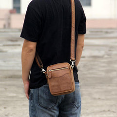 Leather Belt Pouch Mens Small Cases Waist Bag Hip Pack Fanny Pack for Men