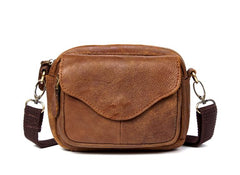 Leather Belt Pouch Mens Small Cases Waist Bag Shoulder Bag for Men