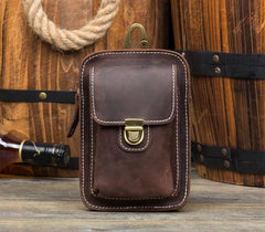 Leather Belt Pouch Mens Small Cases Waist Small Bag for Men