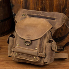 Leather Belt Pouch Mens Waist Bag Bet Tool Bag BUMBAG for Men