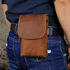 Leather Belt Pouch Mens Waist Bag Shoulder Bag for Men