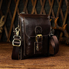 Mens Small Leather Belt Pouch Waist Bag BELT BAG Shoulder Bags For Men