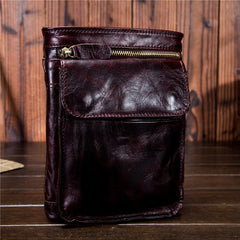 Mens Leather Belt Pouch Shoulder Bag Waist Bag BELT BAG Cell Phone Holster For Men