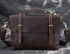 Leather Mens 13inch Laptop Bag Briefcase Work Handbag Business Bag for Men