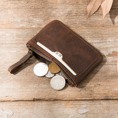 Leather Mens Card Holders Slim Front Pocket Wallet Coin Wallet for Men