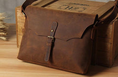 Leather Mens Cool Messenger Bag Shoulder Bag Crossbody Bag for Men
