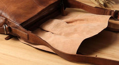 Leather Mens Cool Messenger Bag Shoulder Bag Vintage Crossbody Bag for Men